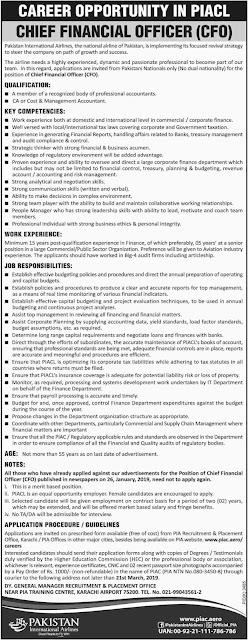 PIA Latest Jobs 2019 | Pakistan International Airlines Jobs 2019