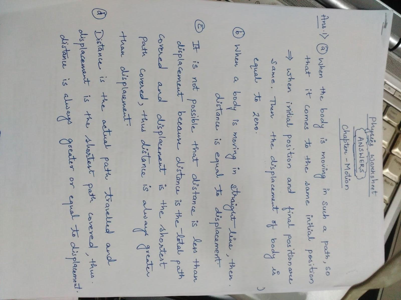 APS, Golconda | Priyanka Gupta: CLASS 9--PHYSICS REVISION