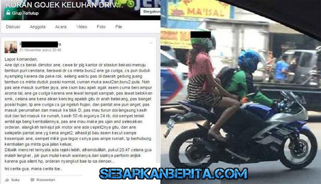 VIRAL  - Cerita driver Gojek yang bawa pelanggan mencret, 'celana gua malah lengket'