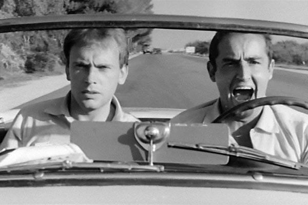 Jean-Louis Trintignant et Vittorio Gassman dans Le Fanfaron, de Dino Risi (1962)