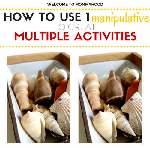Bringing new life to old activities: how to use 1 manipulative to make multiple activities by Welcome to Mommyhood #montessori, #homeschool, #preschool, #preschoolactivities, #montessoriactivities