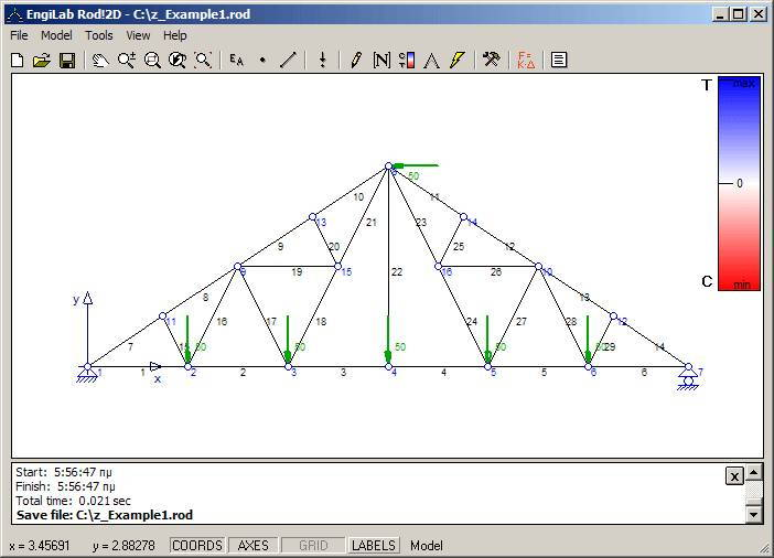 Linear static analysis of plane (2D) trusses - Engineering Society