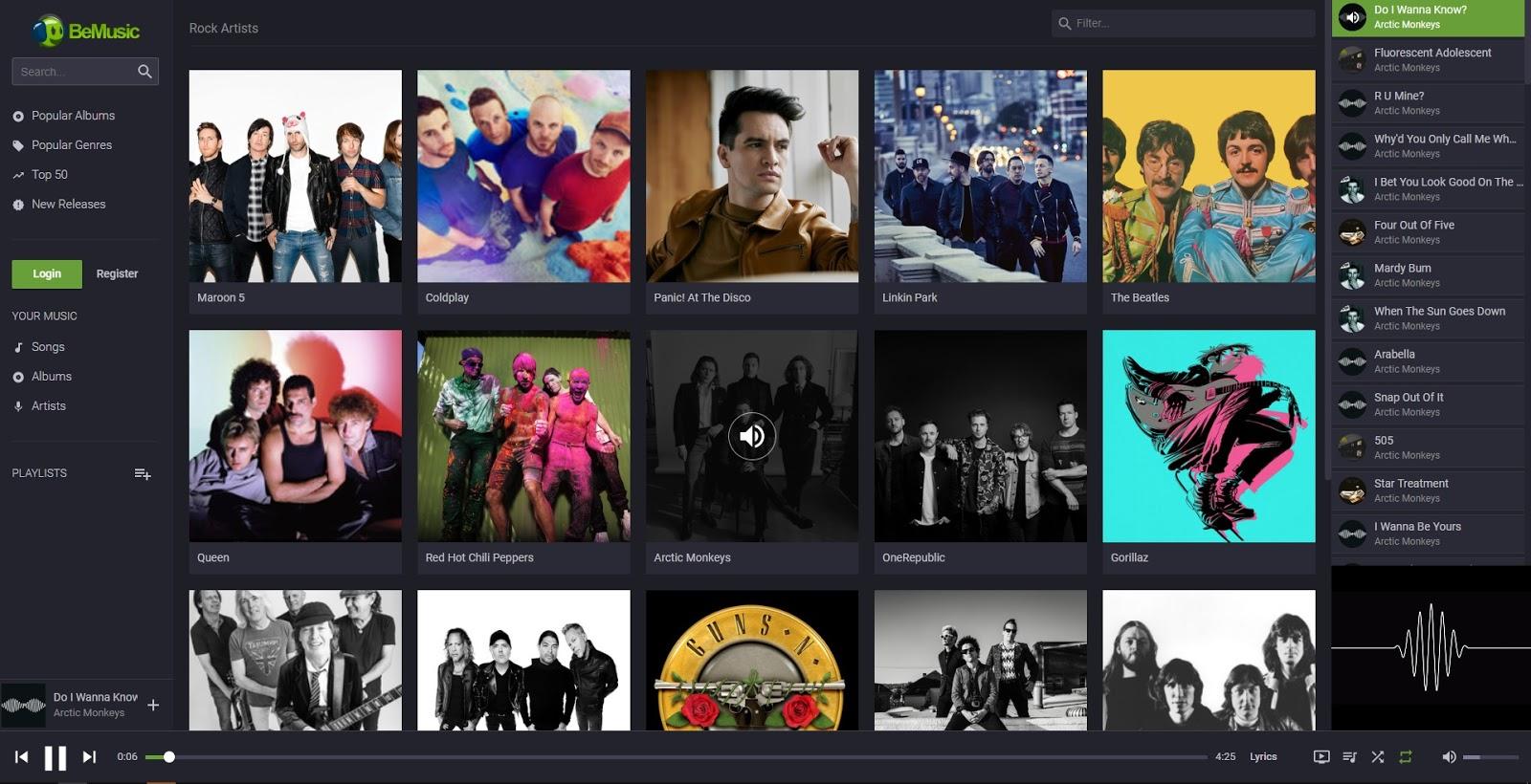 BeMusic - Music Streaming Engine by Vebto