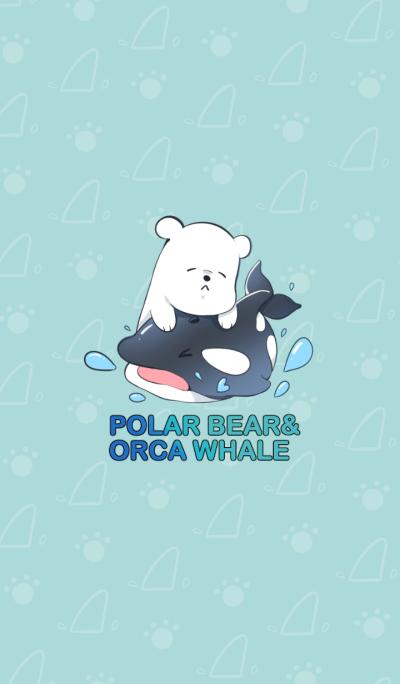 Polar Bear and Orca Whale