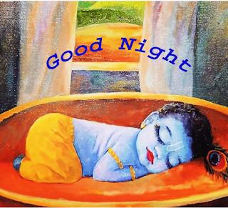 Good Night with Lord Krishna