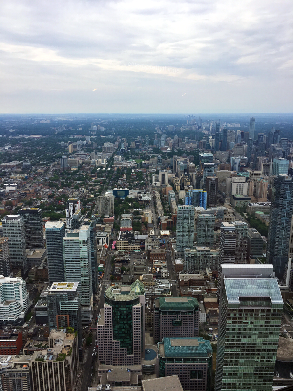 Downtown Toronto from the CN Tower - Tori's Pretty Things Blog