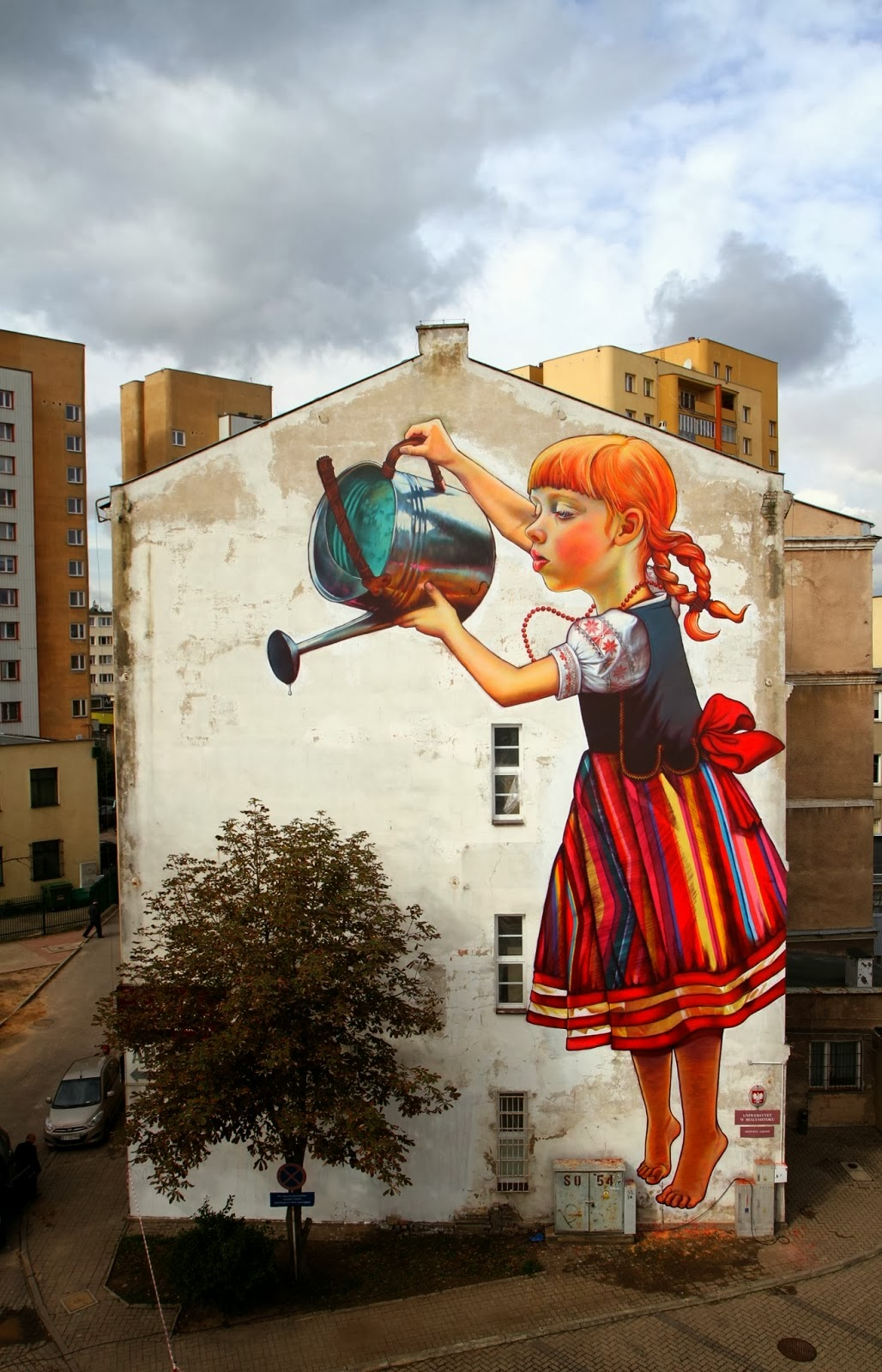 Streetart Legend of the Giants von Natalia Rak in Polen | Ein starkes Mural