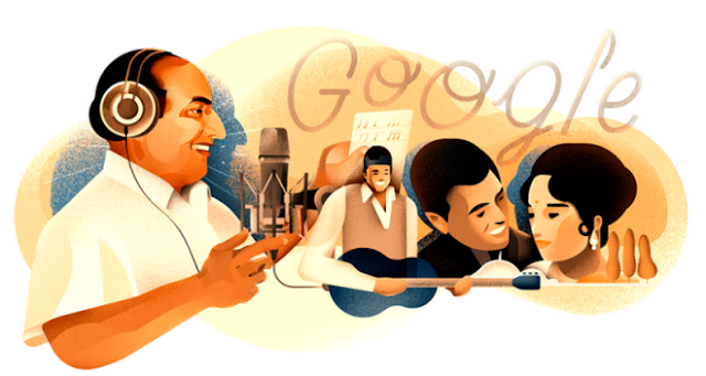 Google celebrates Mohammed Rafi's 93rd birthday