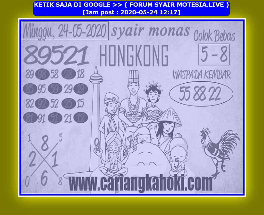 Kode syair Hongkong Minggu 24 Mei 2020 103