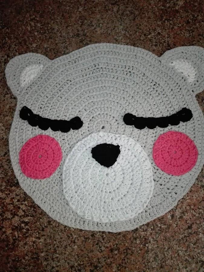 Alfombra de trapillo-oso