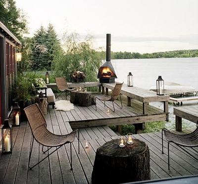 adems de los muebles no pueden faltar las chimeneas o porttiles para dar calidez y a las terrazas