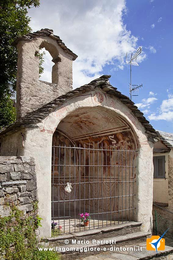 Cappella di san Bernardino, probabilmente uno dei primi luoghi di culto di Craveggia