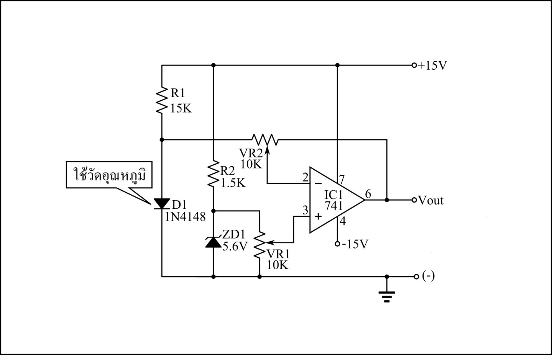 simple circuit diagram a raisin in the sun plot temperature sensor using 1n4148 diode