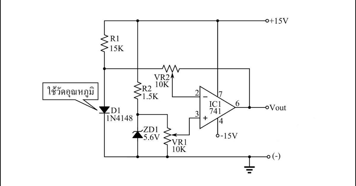 Simple Temperature Sensor Circuit using 1N4148 diode