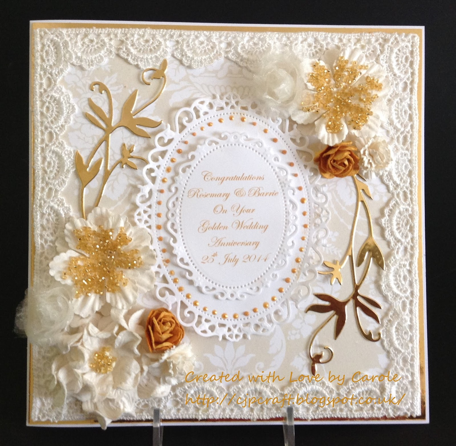 Wedding Cards: The Things I Love : Golden Wedding Card And Box