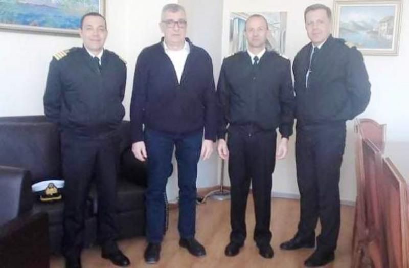 Συνάντηση Δημάρχου Λέσβου με τον Επιθεωρητή Νοτίου Ελλάδος του Λιμενικού Σώματος Υποναύαρχο Ιωάννη Κοντόπουλο