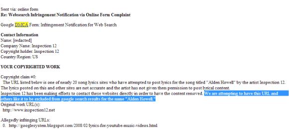 A Bogus DMCA Takedown Request (Part 3)