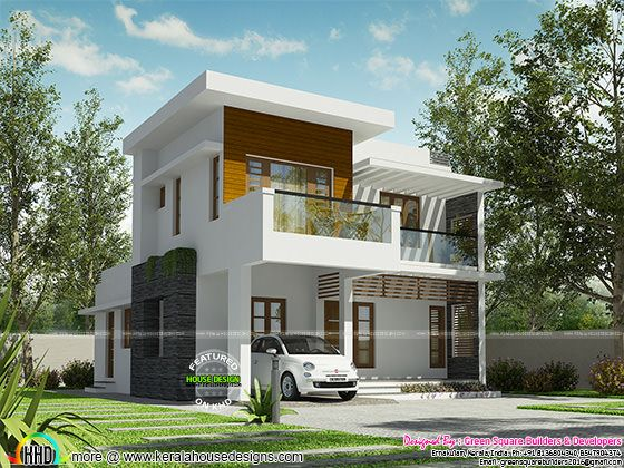 ₹32 lakh cost estimated modern house