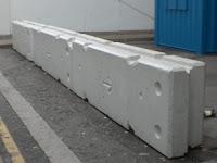 barriera  cemento verticale temporanea