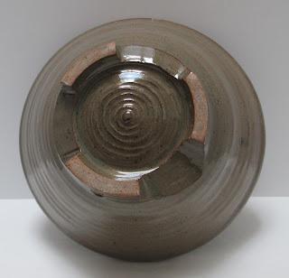 Medium Brown Pottery Bowl Bottom View Tipped-2555 x 2460-jpg.JPG