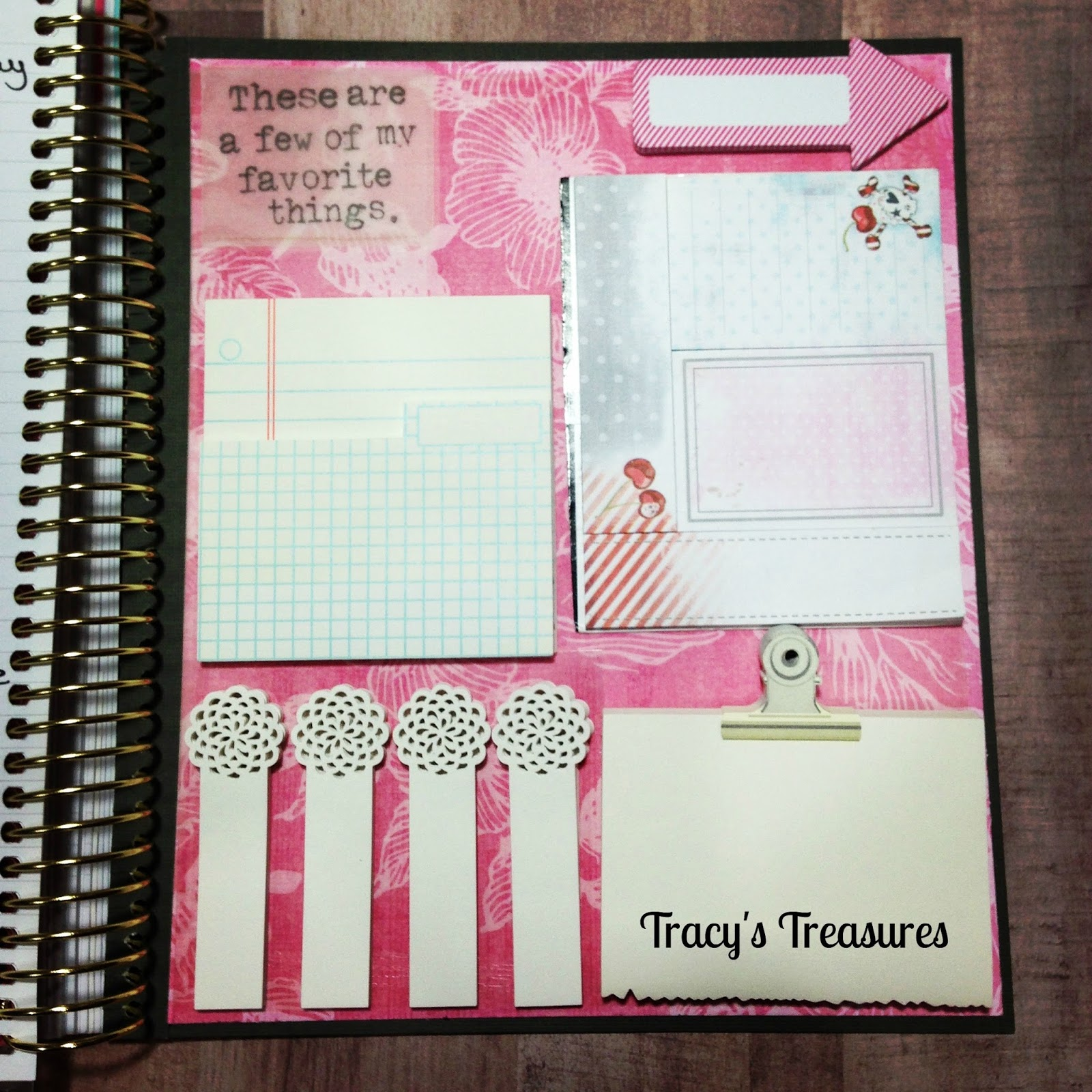 Tracys treasures dashboard for my recollections spiral for What is a planner dashboard