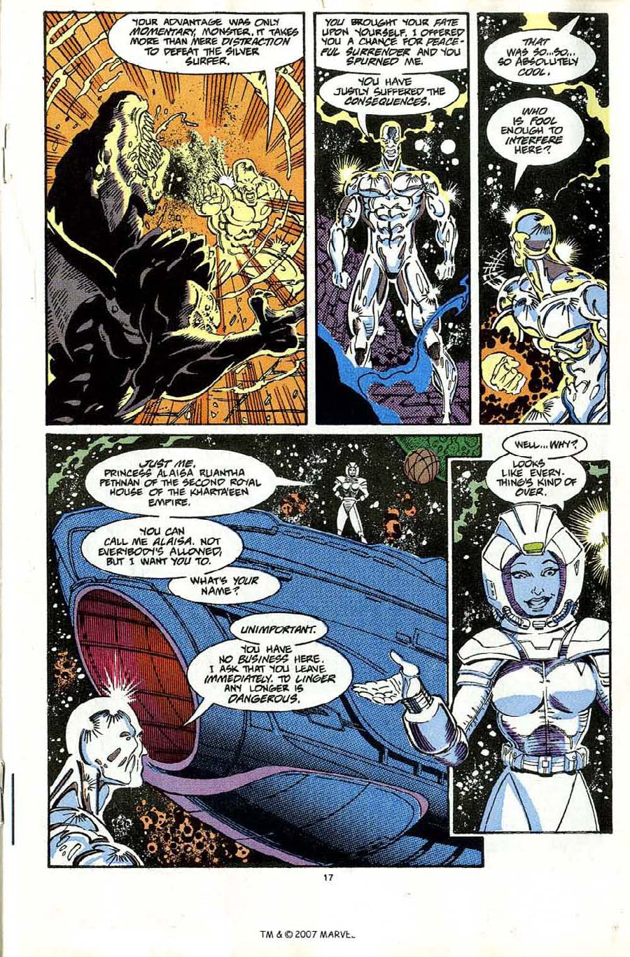Read online Silver Surfer (1987) comic -  Issue #65 - 19