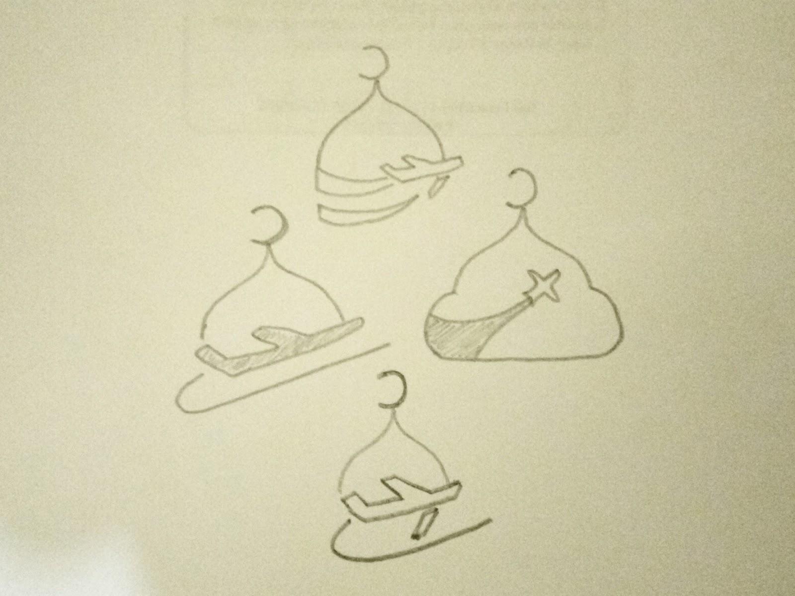 sketsa awal untuk pesawat