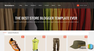 BetaCommerce Store - Online Shopping Store Blogger Template