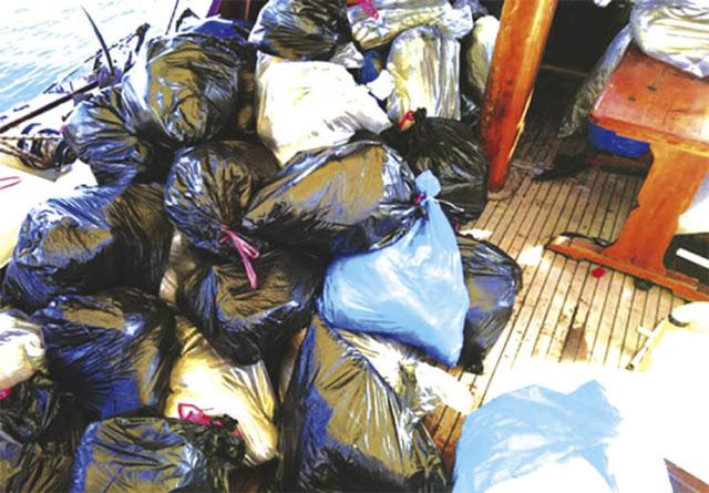 Τούρκοι διακινητές ναρκωτικών ισχυρίσθηκαν πως 775 κιλά κάνναβης φορτώθηκαν σε ιστιοφόρο από το Ναύπλιο