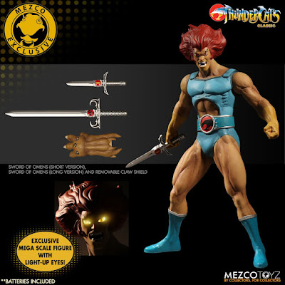 "San Diego Comic-Con 2017 Exclusive ThunderCats Lion-O with Light Up Eyes 14"" Action Figure by Mezco Toyz"