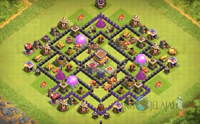 Base Hybrid TH 8 Clash Of Clans Terbaru Tipe 4