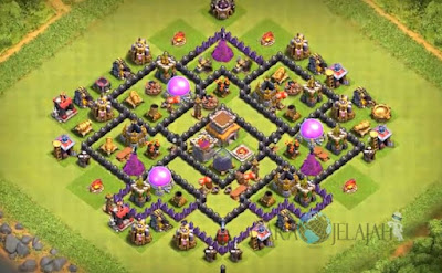 Base Hybrid TH 8 Clash Of Clans Terbaru Tipe 4