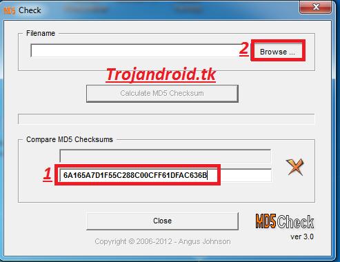 Cara cek md5 pada file download | Trojandroid Cyber System