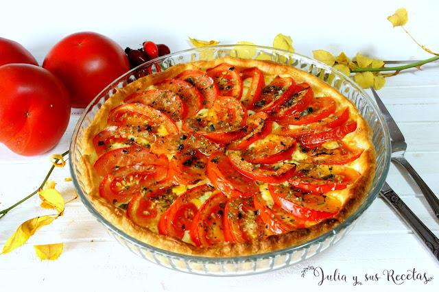 Tarta italiana de tomate y quesos. Julia y sus recetas