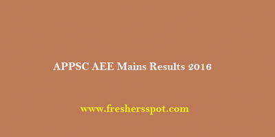 APPSC AEE Mains Results 2016