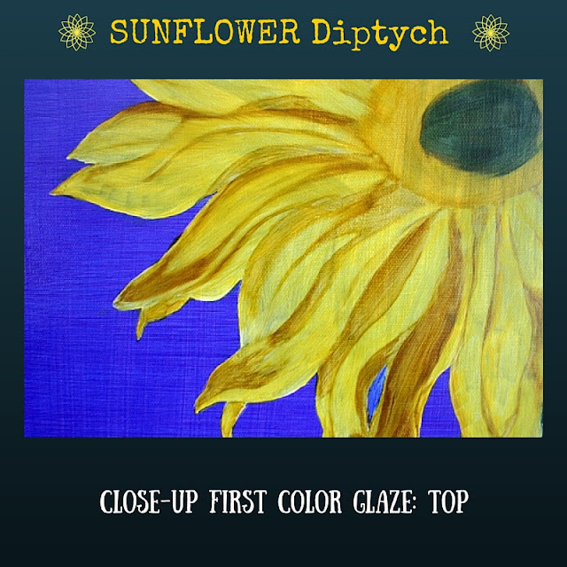 CLOSE UP First color glazed layer for TOP Sunflower