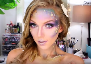 Mermaid Makeup tutorial by Alli