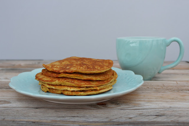 Low Carb Egg Nog Pancakes