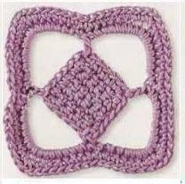 Patrón #1861: Como tejer cuadrado a crochet