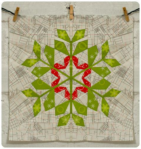 Folk Snowflake Quilt Free Pattern