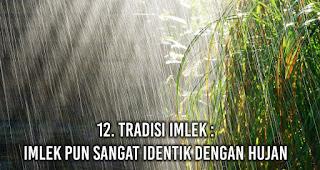 Tradisi Imlek : Imlek pun sangat identik dengan hujan