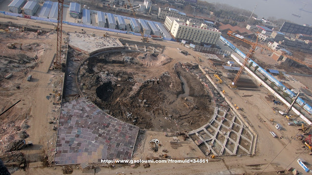Picture of the hole in the ground on the construction site
