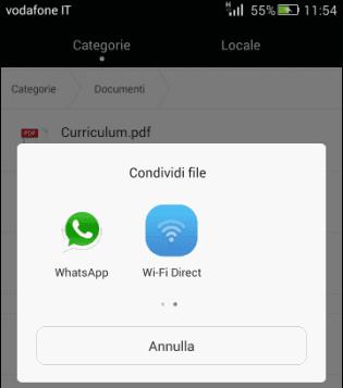 Condividere documento su WhatsApp