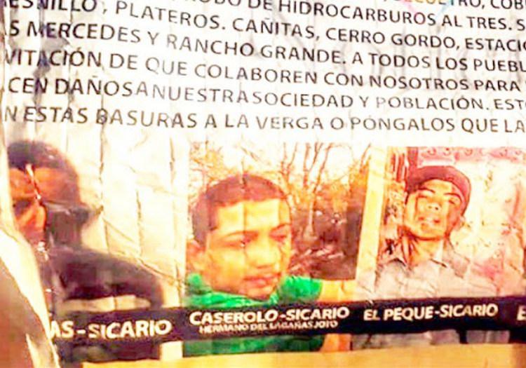 """""""La Barredora llego"""", La Barredora exhibe en narcomanta a Sicarios anunciando su llegada y limpia de """"Talibanes"""" de """"El Z50"""" en Zacatecas"""