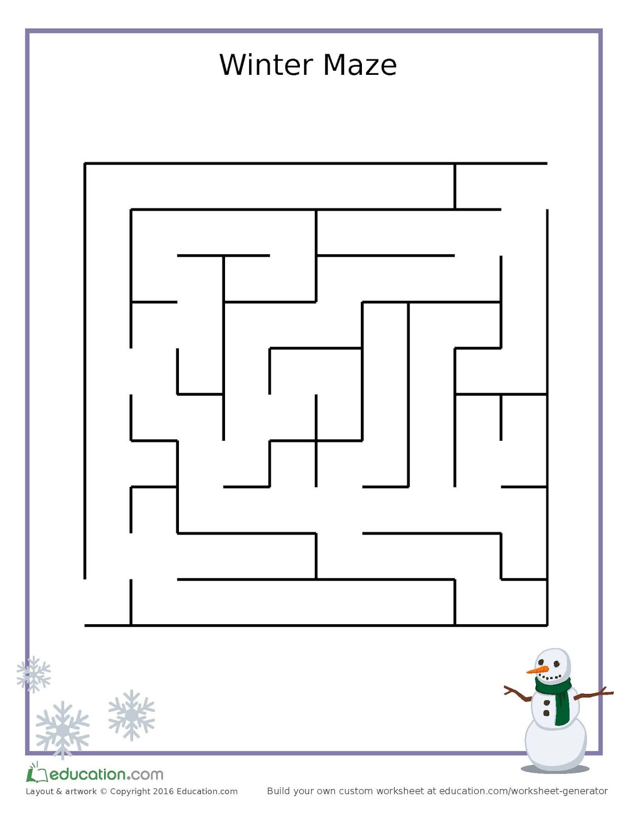 worksheet Snowmen At Night Worksheets even though spring is right around the corner snow in air at first glance you might think this just a simple maze but do all benefits of children completing mazes and s
