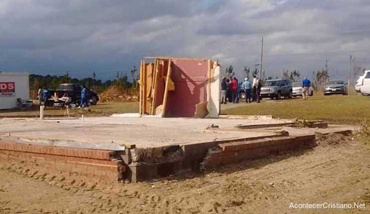Cuarto de oración permanece en pie tras tornado