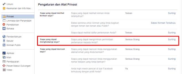 Cara Agar Facebook Tidak Bisa Di Add Friend, Hanya Bisa Diikuti