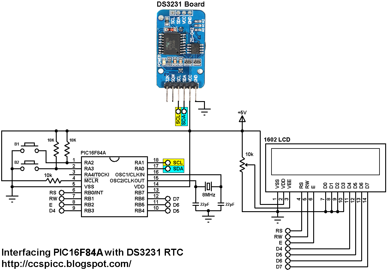 Interfacing Pic16f84 With Ds Rtc