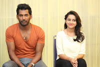 Vishal and Sri Divya at Rayudu Movie Press Meet
