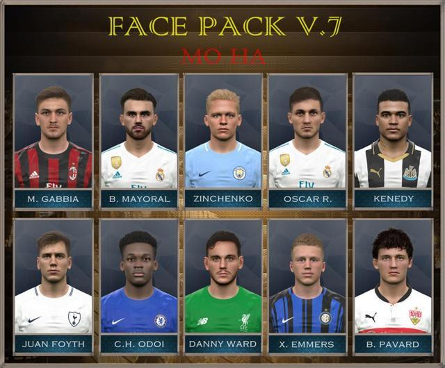 Facepack Update V.7 PES 2017